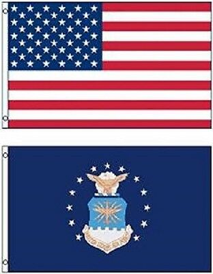Wholesale LOT 3' X 5' U.S. AMERICAN & US Air Force Emblem FLAG Banner 3X5