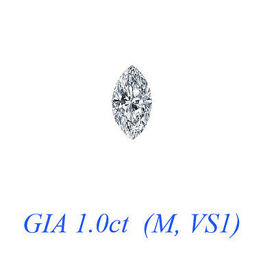 GIA certified 1.0ct Marquise cut Diamond (M-VS1) - REF#- X193Y2- BR... Lot 40802