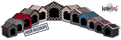 Fabric dog kennel tent doghouse bed + pad Hobbydog indoor made in Europe
