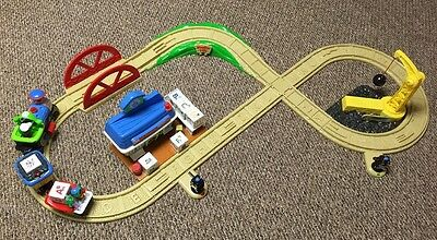 Leap Frog Phonics Railroad Alphabet Train And Tracks COMPLETE Working Set-RARE!