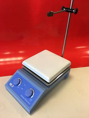 MESE Hotplate Magnetic Stirrer, 19x19 cm Ceramic Top Plate, Heavy Duty