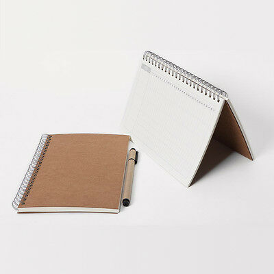 Wire KRAFT cover Calendar Notes book Monthly weekly planner Agenda for any year