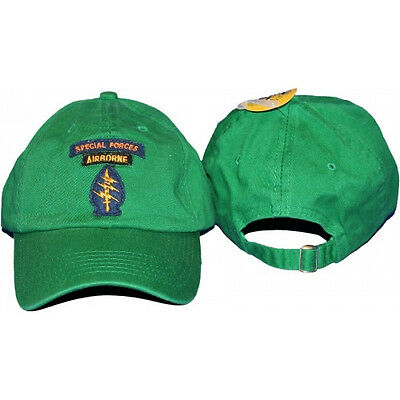 (new) Airborne Special Forces Green baseball style hat cap