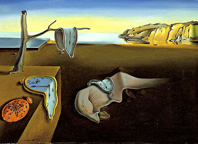 Salvador Dali The Persistence of Memory canvas print reproduction giclee 16.5X12