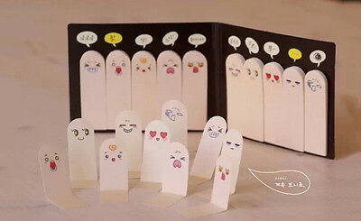 Cute 200 Pages Ten Fingers Sticker Post-It Bookmark Flags Memo Sticky Notes pads
