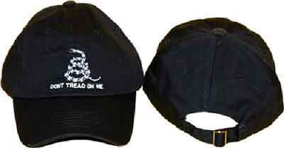 new Embroidered Gadsden Dont Tread on Me Tea Party Black Baseball Washed Hat Cap