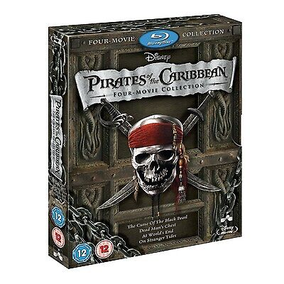 PIRATES OF THE CARIBBEAN Brand New 4-MOVIE BLU-RAY COMPLETE COLLECTION 1 2 3 4