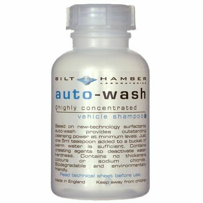 Bilt Hamber Auto-Wash Concentrated Car Shampoo 300ml pH Neutral Wax LSP Safe New