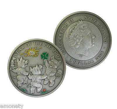 2006 Year of THE PIG The Piglets Silver Coin Chinese Calendar+ FREE GIFT ex. vat
