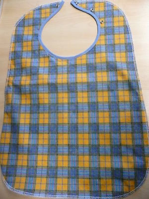 Yellow Adult bib apron tabard heavy duty Waterproof washable protector 60 cm