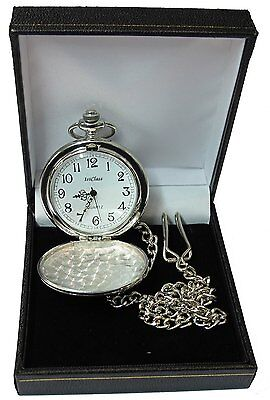 Engraved Pocket Watch Father of the Bride Groom Best Man Ushe /Dad Wedding Gift