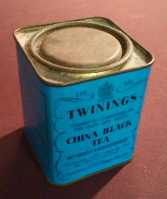 Vintage Twinings Black China Tea Tin 4 oz
