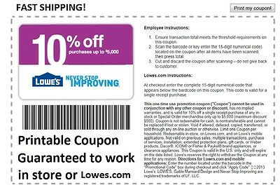 Lowes Coupon 10% Off In-Store Or Online Code Exp 5/7/15 Save Up To $500 Lowe's
