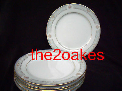 6 Noritake China Legendary Kensington Palace Salad Plates 3696 Luncheon Lunch