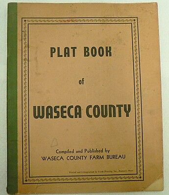 Old Vintage Plat Book Waseca County Of Minnesota