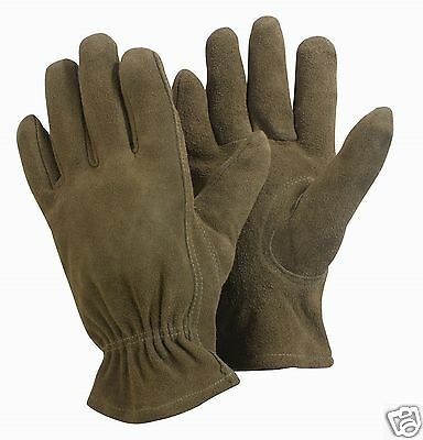 Briers Washable Leather Olive Brown Garden Gardening Gloves ~ Sm ~ Med ~ Lg