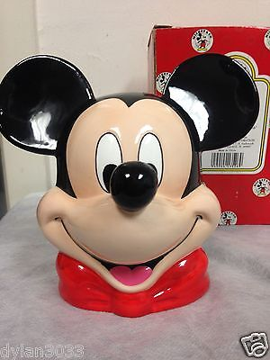 Rare Enesco Disney Musical Mickey Mouse Head Plays Mickey Mouse Club March EUC!