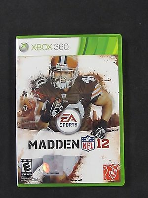 Madden NFL 12 Complete  (Xbox 360, 2011) CLEANED! TESTED!