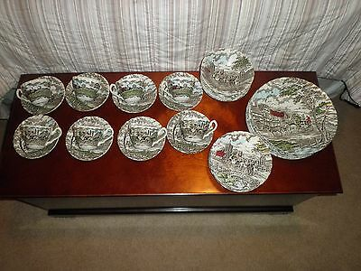 Vintage Myott Royal Mail Colored China Set! Great Condition!
