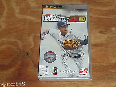 MLB 2k10 NEW FACTORY SEALED Major League Baseball Sony PSP portable playstation