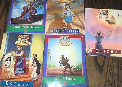 LOT of 5 Animated Stories From The Bible Activity Books
