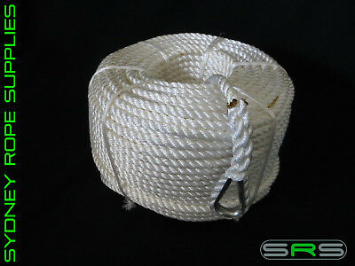 50Mtrs X 10Mm Nylon Anchor Rope With Stainless Steel Thimble