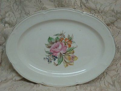 Vintage Edwin Knowles Shabby Spring Chic Floral Flower Platter Valentine's Day