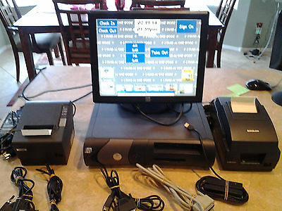 POS System/Point of Sale Equipment for Restaurant/Retail-Bundled-(5) Four pc.