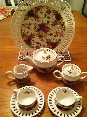 royal albert old country roses Miniature Child Size Tea Set