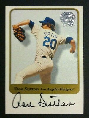 2001 Fleer Greats of the Game Autograph Auto Don Sutton