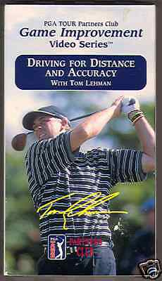 Driving For Distance and Accuracy (2002, VHS) Tom Lehman PGA Tour Partners Club