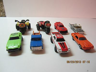 Vintage Toy Vehicle Lot Of 8-All Made In Hong Kong-Cars, 3 Wheelers, Trucks