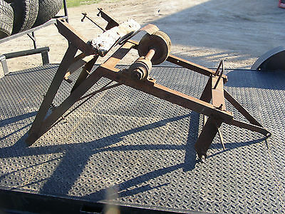 Antique Log Saw Buzz Saw Tractor PTO Powered Flat Belt 3Pt Hit Miss Ford