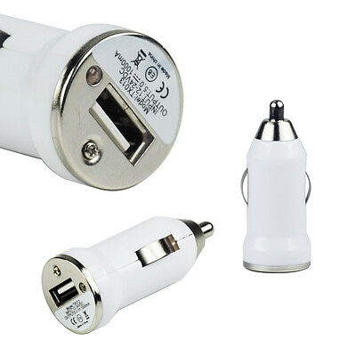 Portable Mini Bullet Car Charger Micro USB Port For Cellphone Samsung Sony HTC
