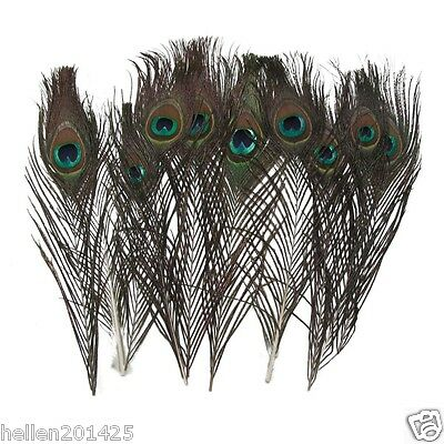50 pcs Natural Real Peacock Tail Feathers for wedding party Craft 10-12 Inches