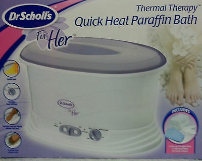 Dr. Scholls Thermal Therapy Quick Heat Paraffin Bath for Her (Wax Mitts +) KTC13