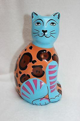 Handpainted Pottery Cat Bank