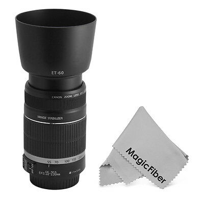 ET-60 Lens Hood for Canon EF-S 55-250mm f/4-5.6 IS, IS II Telephoto Zoom Lens