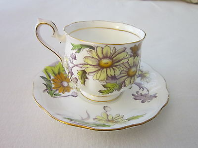 Royal Albert Flower of the Month Cup & Saucer DAISY No. 4 Bone China
