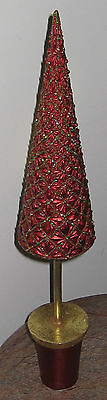 Red & Gold Glitz 20 Inch Tree Ceramic? New Old Stock Never Used