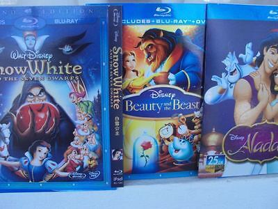 Beauty And The Beast , Snow White and the Seven , Aladdin 3BLU RAY