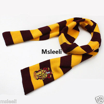 Harry Potter Gryffindor House LOGO Knit Wool Scarf Wrap Cosplay Costume US