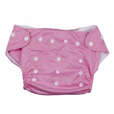 Baby Kids Waterproof Cloth Diaper Cover Washable Reusable Nappy Adjustablb Pink