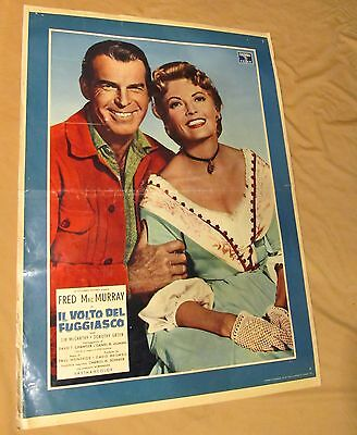 FACE OF A FUGITIVE Rare WESTERN MOVIE POSTER 1950's FRED MacMURRAY Cowboy