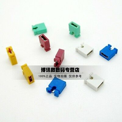 100Pcs 2.54mm Pitch Short-Connect Cap Jumper Red/Yellow/Blue/Green/White/Black