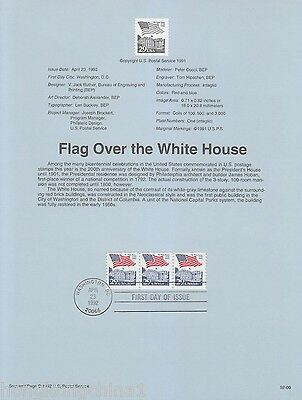 USA Stamp FDC 1992 Flag over the White House US138988