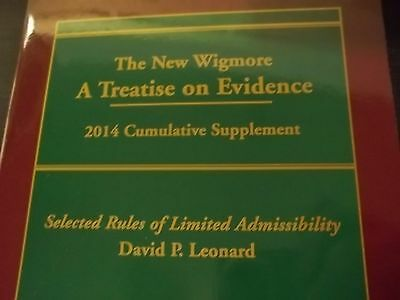 2014 Updates for Your Set of THE NEW WIGMORE --- A Treatise on Evidence      law