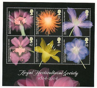 GB 2004 Royal Horticultural Society unmounted mint mini / miniature sheet MNH