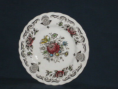 "MYOTTS BOUQUET STAFFORDSHIRE FLORAL BREAD  DESSERT PLATE 6""  ENGLAND"