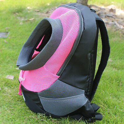 Pet Dog Cat Puppy Carrier MESH Travel Tote Bag Backpack HOLDER pink SIZE small